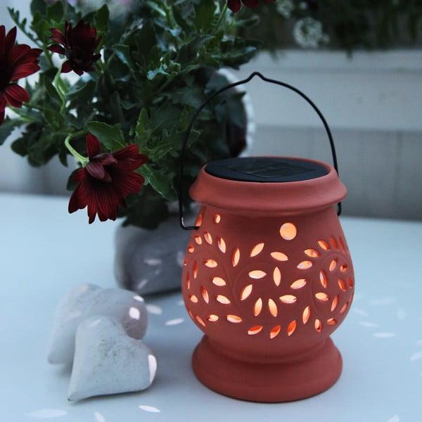 Oranžový LED lampáš Best Season Clay