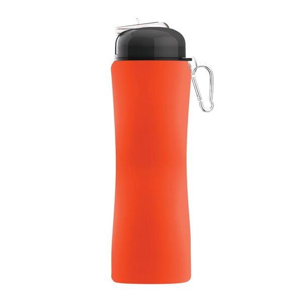 Športová fľaša Sili-Squeeze, oranžová, 650 ml