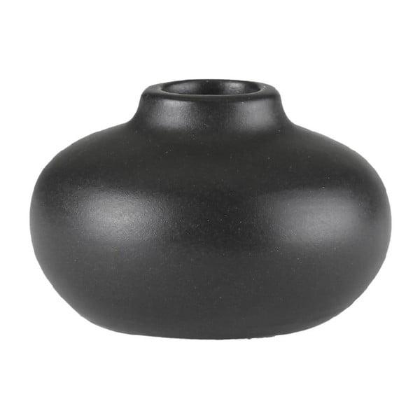 Čierny kameninový svietnik A Simple Mess Telma