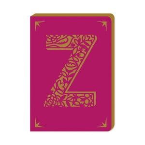 Linajkový zápisník A6 s monogramom Portico Designs Z, 160stránok