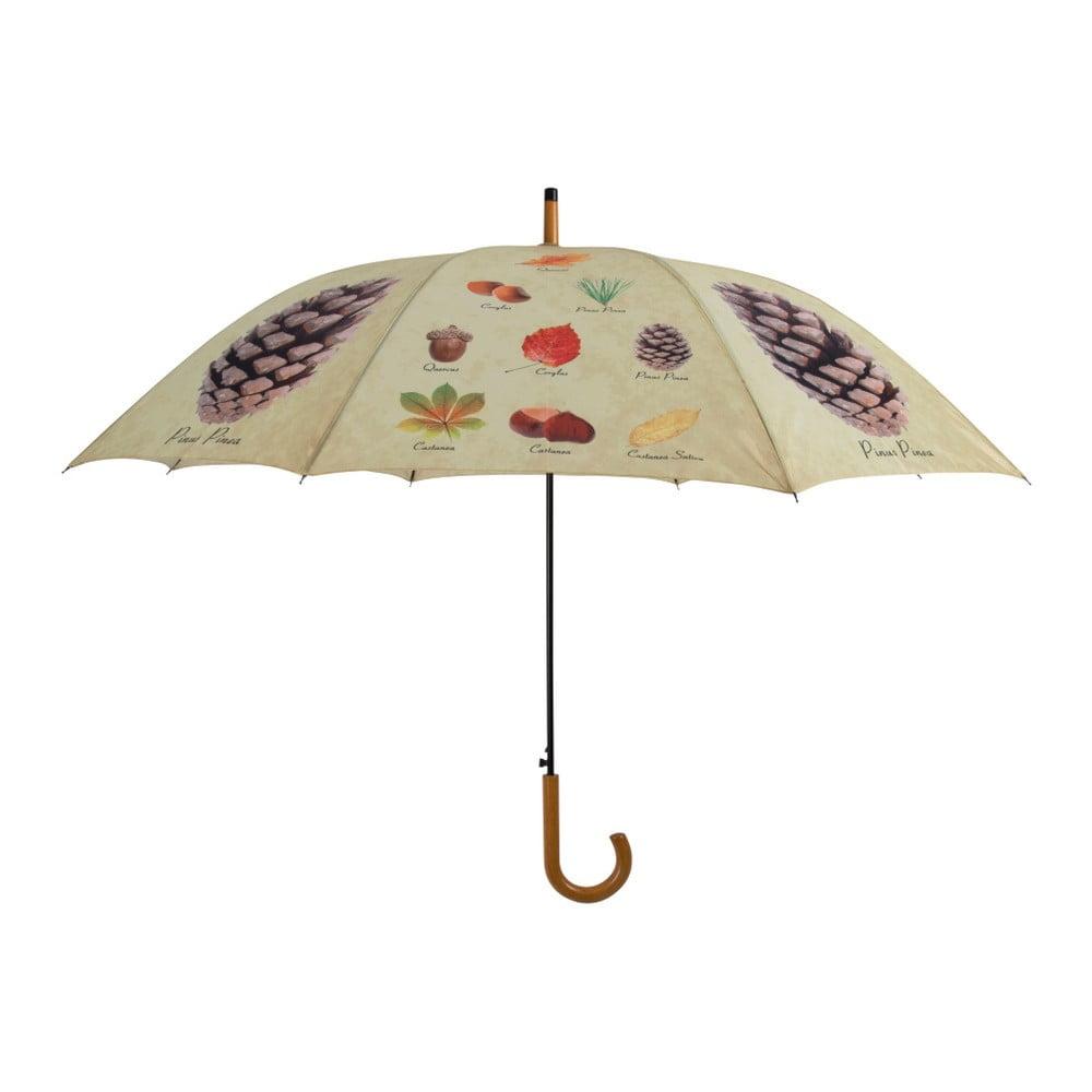 Dáždnik s dizajnom listov a plodov Esschert Design, ø 120 cm