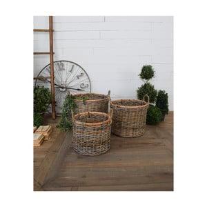 Sada 3 ratanových úložných košíkov s uškami Orchidea Milano St Barts