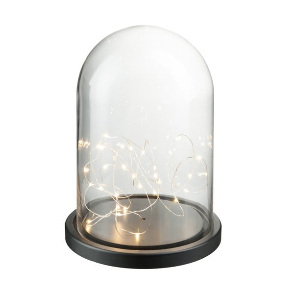 Dekoratívny poklop s LED svetielkami Bell, výška 32 cm