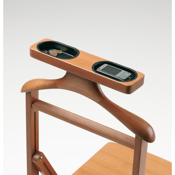 Nemý sluha z bukového dreva so stoličkou Arredamenti Italia Duka