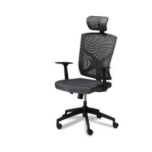 Sivá kancelárska stolička Furnhouse Nova