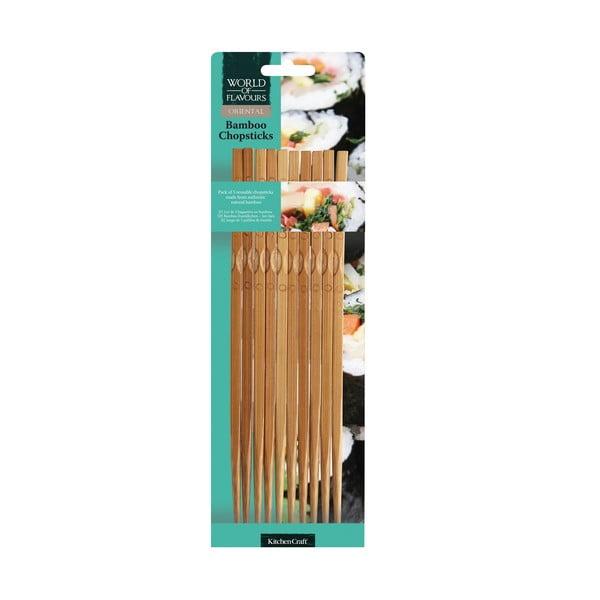 Sada 10 bambusových paličiek Kitchen Craft Oriental