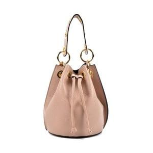 Ružová kožená kabelka Roberta M Callisto Cipria