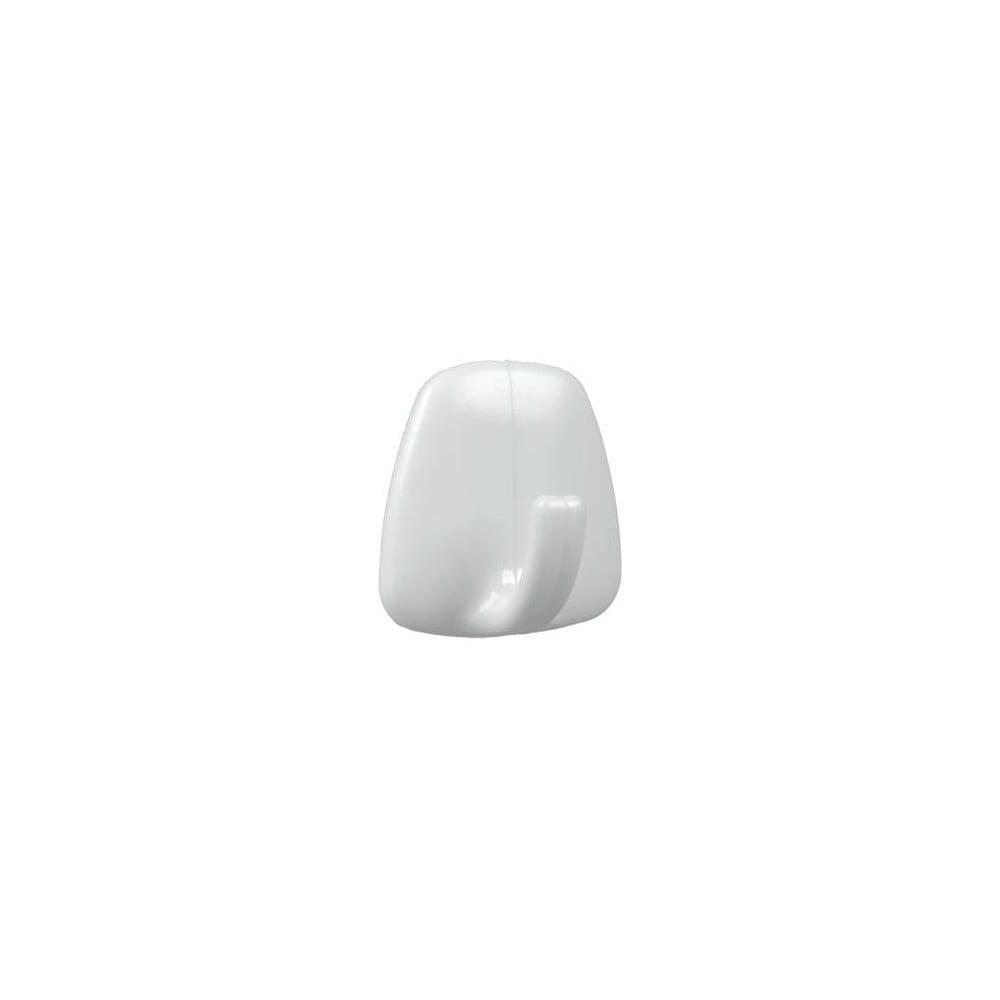 Sada 4 bielych plastových samolepiacich háčikov Metaltex John