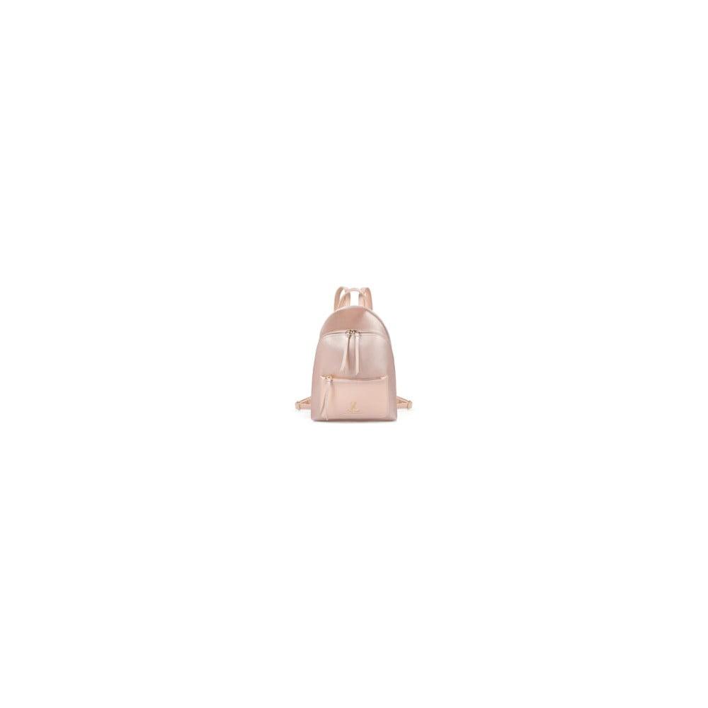 Svetloružový batoh z eko kože Beverly Hills Polo Club Fran