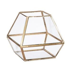 Sklenená vitrínka / kvetináč Stand Glass Gold, 16 cm