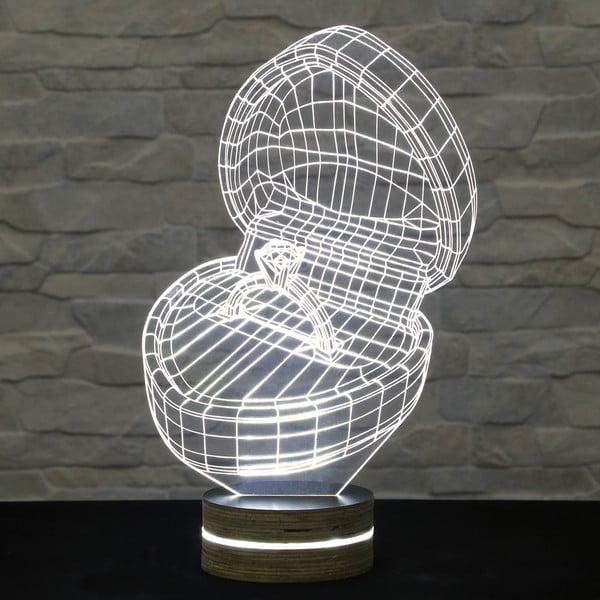 3D stolová lampa Marry me