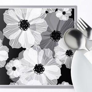 Sada 2 prestieraní Grey Flower, 20x20 cm