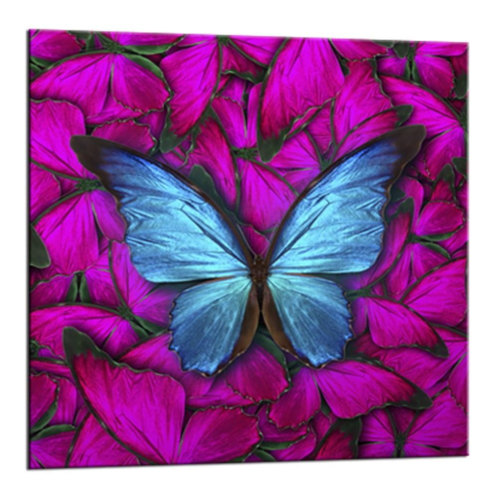 Obraz Styler Glasspik Red Butterfly, 20 × 20 cm