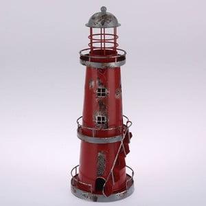 Kovový závesný svietnik Red Lighthouse, 32 cm