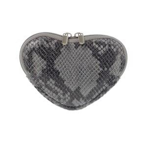 Kožená kapsička na mince Heart Grey