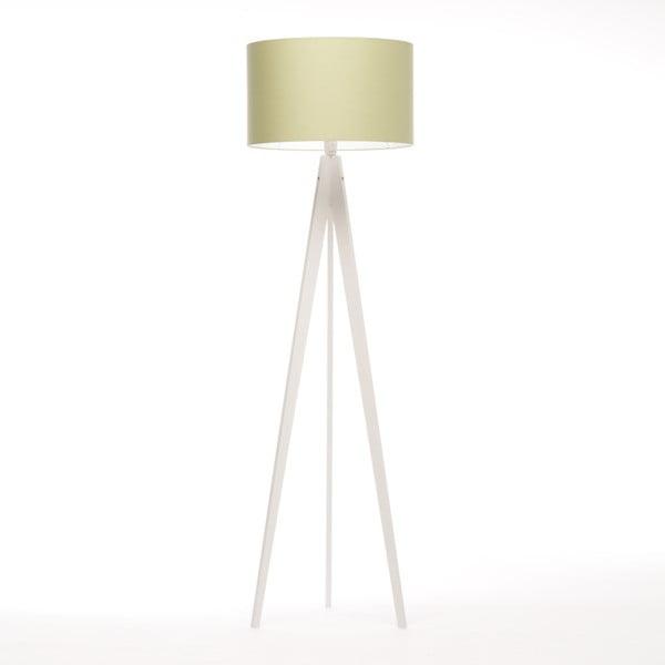 Zelená stojacia lampa Artist, biela breza lakovaná, 150 cm