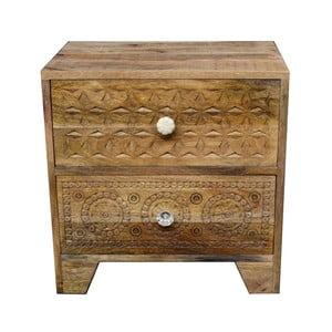 Konferenčný stolík z masívneho mangového dreva Massive Home Ella, dĺžka 50 cm