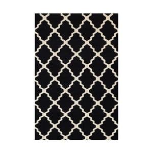 Vlnený koberec Kilim Jasmina Black, 200 x 290 cm