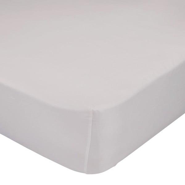 Béžová elastická plachta z čistej bavlny Basic, 90 × 200 cm