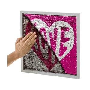 Obraz s flitrami Unimasa Love, 40 x 40 cm