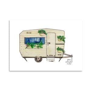 Autorský plagát Caravan, 30x42 m