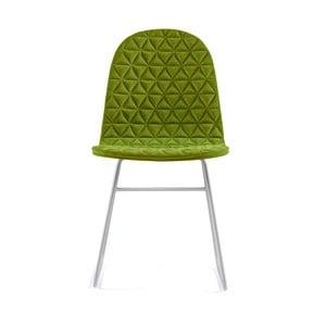 Zelená stolička s kovovými nohami IKER Mannequin V Triangle