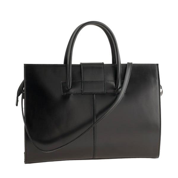 Čierna kožená kabelka Ore Diece Bari