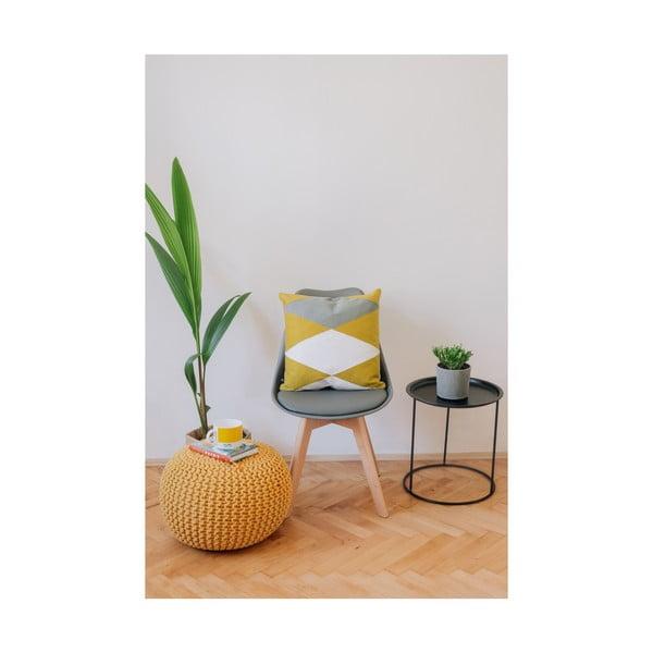 Horčicovo-žltý puf na sedenie loomi.design