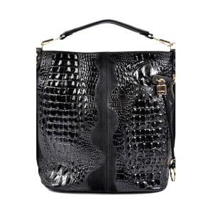 Čierna kožená kabelka Roberta M Russna