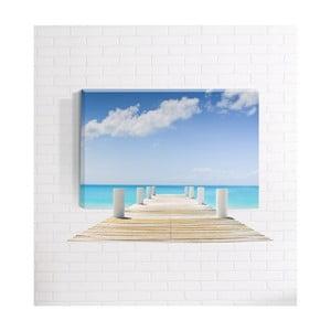 Nástenný 3D obraz Mosticx Pláž, 40 x 60 cm