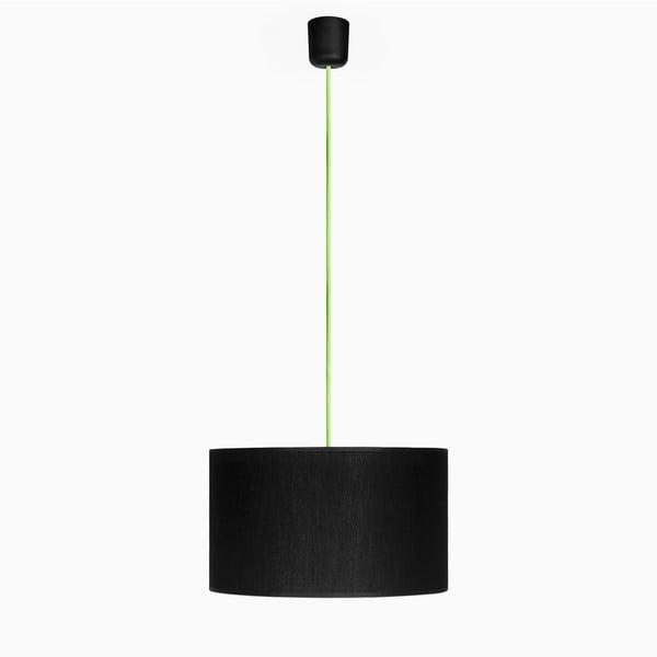 Závesné svietidlo Tres L, zelená/čierna
