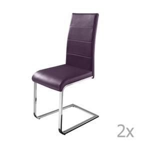 Sada 2 fialových jedálenských  stoličiek Støraa Cara