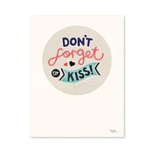 Plagát Michelle Carlslund Don't Forget Kiss, 30x40cm