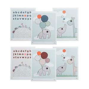 Sada 3 obojstranných detských plagátov Done by Deer