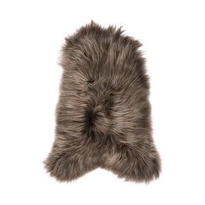 Hnedá ovčia kožušina s dlhým vlasom, 110 x 60 cm