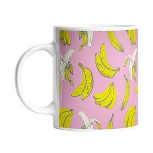 Keramický hrnček Banana in Pink, 330 ml