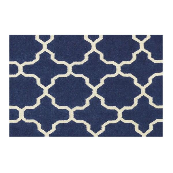 Ručne tkaný koberec Maria Blue/White, 140x200 cm