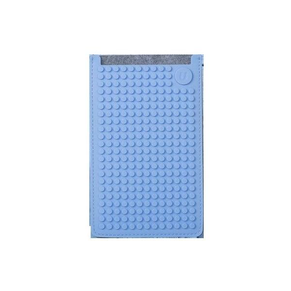 Univerzálny veľký obal na telefón Pixel Art, grey/sky blue