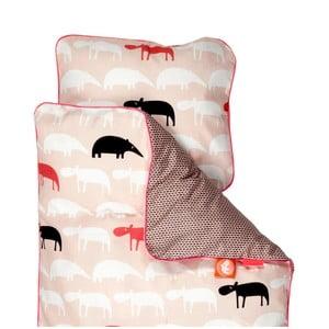 Detské ružové obliečky Done By Deer Zoopreme, 70×80cm