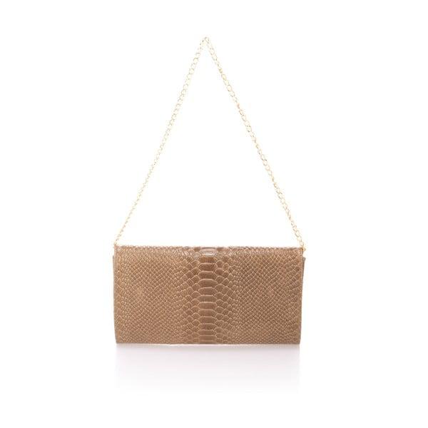 Béžová kožená kabelka Giorgio Costa Clutch