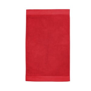 Červená kúpeľňová predložka Seahorse Pure, 50×90cm