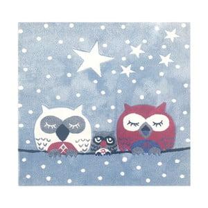 Detský koberec Happy Rugs Owl Family, 140x140cm