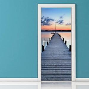Adhezívna samolepka na dvere Ambiance Pontoon On The Beach, 83 x 204 cm