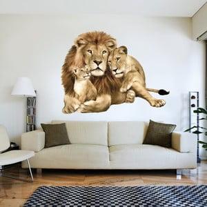 Dekoratívna samolepka na stenu Levy rodina