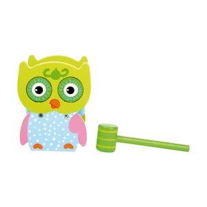 Detská drevená hra s kladivom Legler Hammer Bench Owl