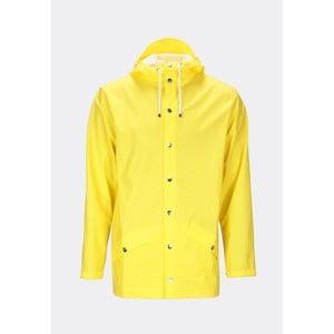 Žltá unisex bunda s vysokou vodoodolnosťou Rains Jacket, veľkosť XXS/XS