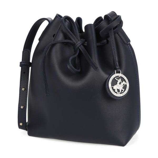 Tmavomodrá kabelka z eko kože Beverly Hills Polo Club Valeria