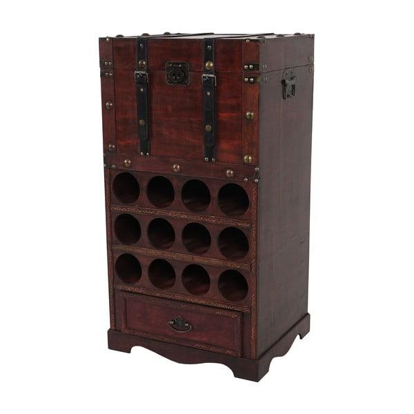 Stojan na 12 fliaš vína Mendler Shabby Colonial 85 cm, hnedý