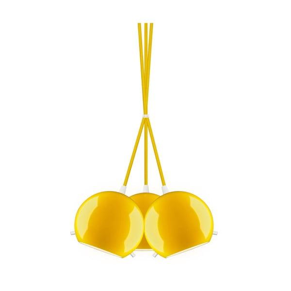 Tri svetlá Sotto Luce MYOO Elementary, lesklá žltá/žltá/biela
