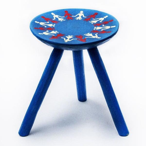 Ručne maľovaná stolička Bod, 38 cm